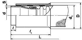 Металлорукав с арматурой под приварку Н8Д0.449.020 (аналог 4655А)