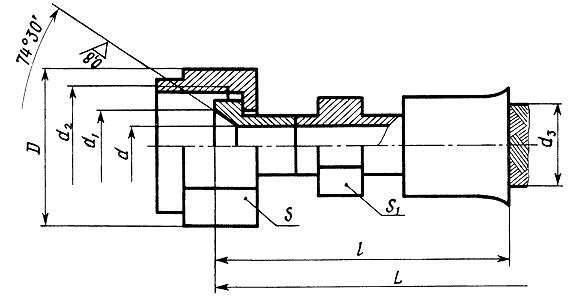 Металлорукав с Арматурой Конус-Конус с Углом 74 (Серия Н8Д0.449.033 / Н8ДО.449.033)